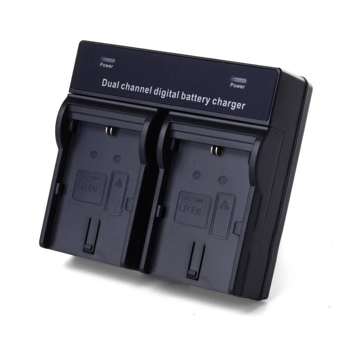 xcsource chargeur batterie double pour canon lp e6 eos 5d. Black Bedroom Furniture Sets. Home Design Ideas