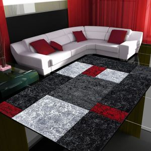 tapis rouge et noir achat vente tapis rouge et noir. Black Bedroom Furniture Sets. Home Design Ideas
