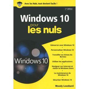 SYSTÈME D'EXPLOITATION Windows 10 pour les nuls. 2e édition