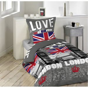 housse de couette union jack achat vente housse de couette union jack pas. Black Bedroom Furniture Sets. Home Design Ideas