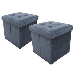 pouf gris achat vente pouf gris pas cher. Black Bedroom Furniture Sets. Home Design Ideas