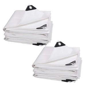 Tissus plane 0,81 €//m² bâche de couverture blanc 180g//m² bac à sable plans de revêtement
