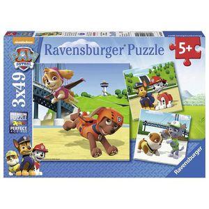 PUZZLE Puzzle Pat Patrouille Paw Patrol Lot de 3 Puzzles