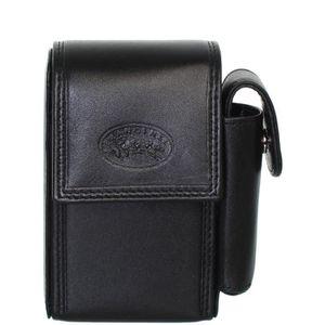 Noir Marron Lot de 2 /étuis en cuir pour cigarettes 84 mm
