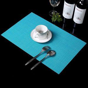 Set De Table Rectangulairespaghetti 30x45cm Turquoise Paris Prix