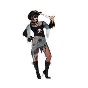 JARRETIERE Noire PIRATE Déguisement Adulte Femme Costume NEUF Pas cher