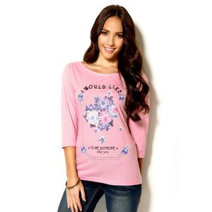 T-SHIRT Tee-shirt manches 3/4 imprimé femme Venca