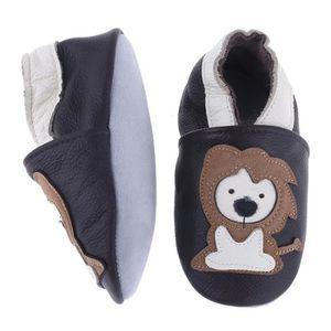 CHAUSSON - PANTOUFLE Chaussons Bébé Cuir Souple Chaussures Premiers Lio