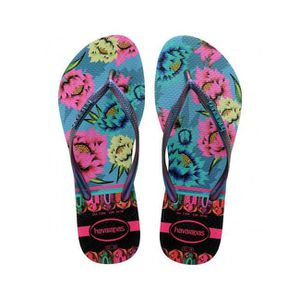 TONG Havaianas Slim Tropical Tongs Bleu Lavande Taille