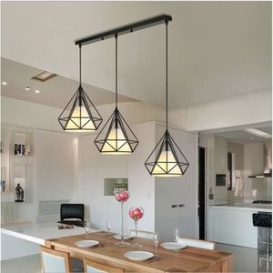 LUSTRE ET SUSPENSION Lustre Suspension Cage Forme Diamant Luminaire Vin