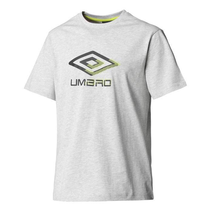 UMBRO T-Shirt Manches courtes ELSYM GRAPHIC COTTON - Homme - Gris
