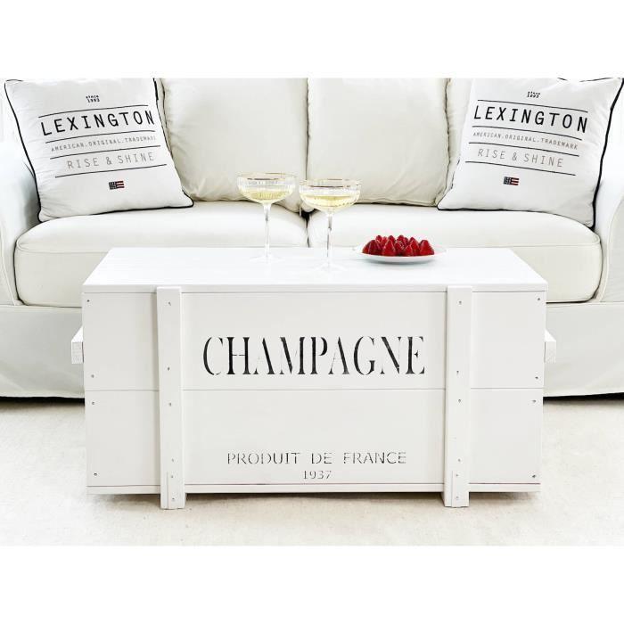 Table d'appoint en bois de style vintage en bois massif Shabby Chic blanc