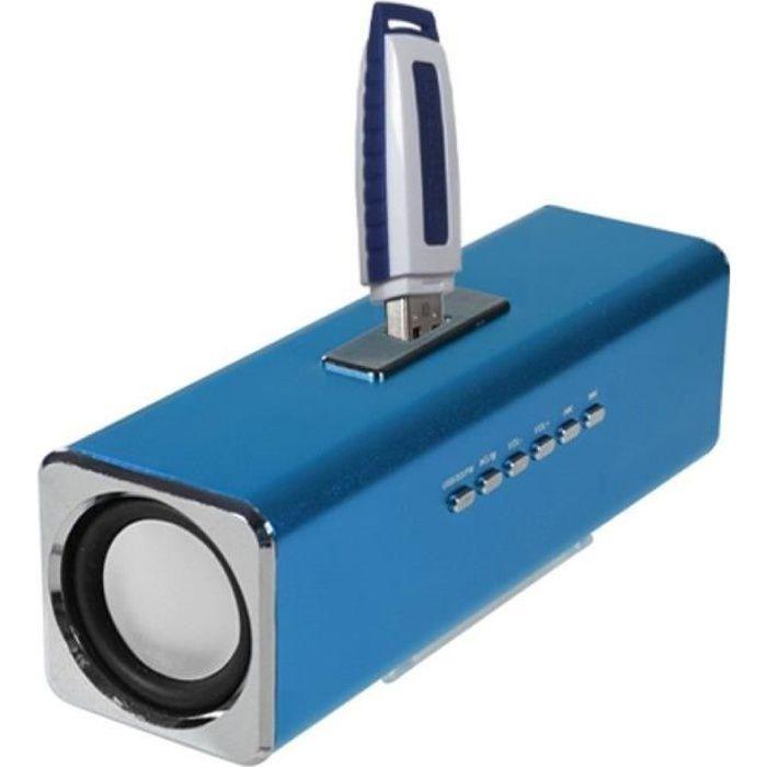 Haut-parleur Enceinte pour MP3 MP4 iPod Téléphone Portable iPhone Samsung Galaxy Sony Xperia LG HTC, Bleu