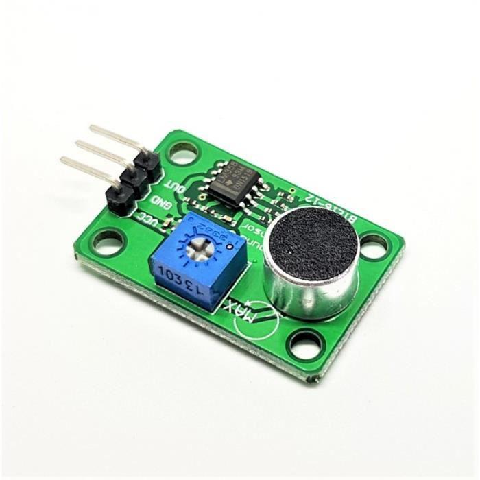 VS-ELEC Module de capteur détection sonore à 3 broches pour Arduino