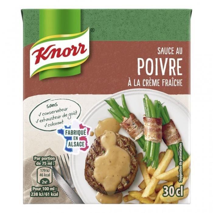 Knorr Sauce au Poivre à la Crème Fraîche 30cl (lot de 6)