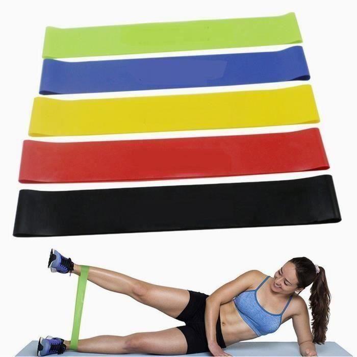 Bande de Resistance Set (5) - Loop Bande Elastique Fitness Équipement d 'Exercices pour Musculation Pilates Squat Sport