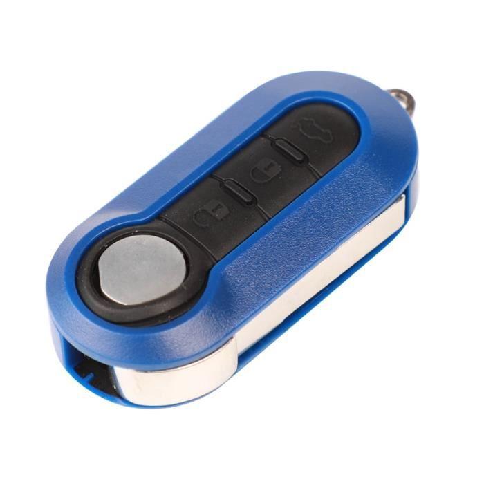 Coque clé,Jingyuqin 3 boutons télécommande rabattable clé porte clé coquille pour Citroen Jumper Fit - Type Bleu - for Citroen