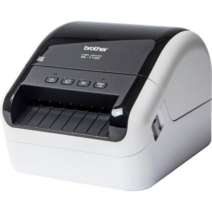 Brother QL-1100 Imprimante d'étiquettes papier thermique Rouleau (10,36 cm) 300 x 300 ppp jusqu'à 110 mm-sec USB 2.0