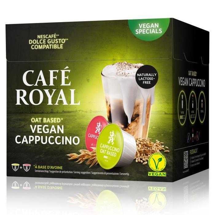 CAFE ROYAL Compatible Dolce Gusto R Cappuccino Lait d'Avoine x16