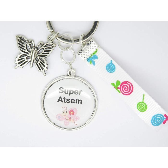 porte clés personnalisable ou Bijou de sac CADEAU POUR UNE ATSEM, une maîtresse un maître : cadeau fin année scolaire fête des école