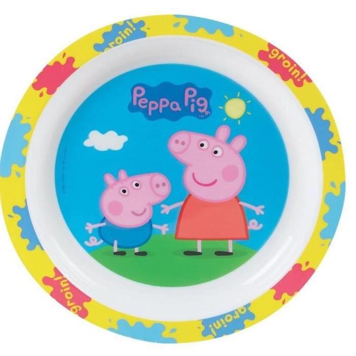 Fun House Peppa Pig assiette micro-ondable pour enfant