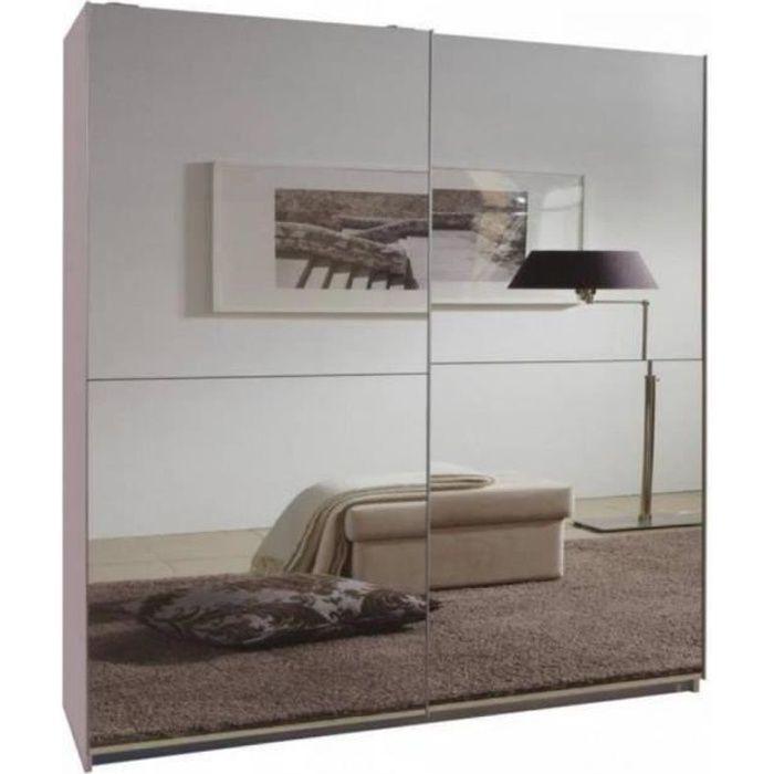 Dressing CLAPTON 179 cm portes coulissantes blanc / miroirs blanc Bois Inside75