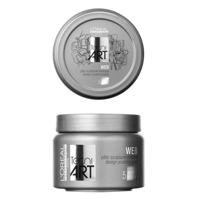 L'Oréal Professionnel, Pâte sculptante évolutive Web Tecni Art 150ml, Coiffant Cheveux Pâte Effet Fixant