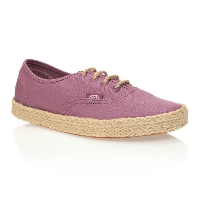 VANS Chaussures Authentic Espadril Canvas Grape - Femme - Rose