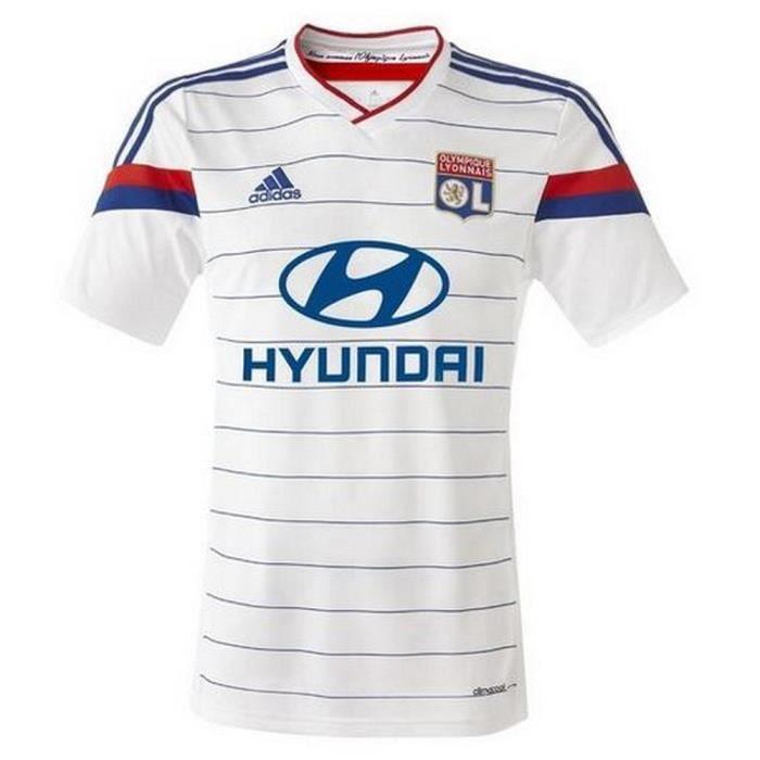 Maillot Adidas Officiel Homme Domicile OL de l'Olympique Lyonnais saison 2014-2015
