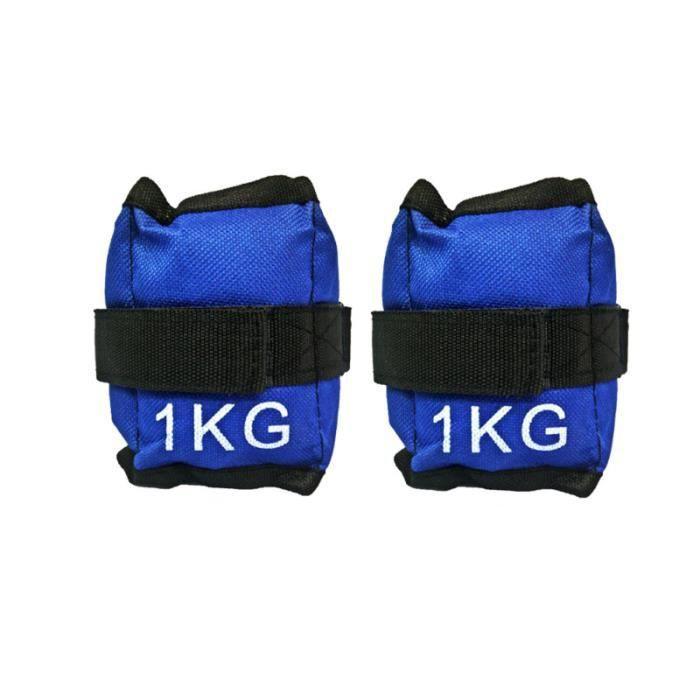 2pcs 1KG poids de poignet de cheville de confort pour la course à pied BARRE - HALTERE - POIDS