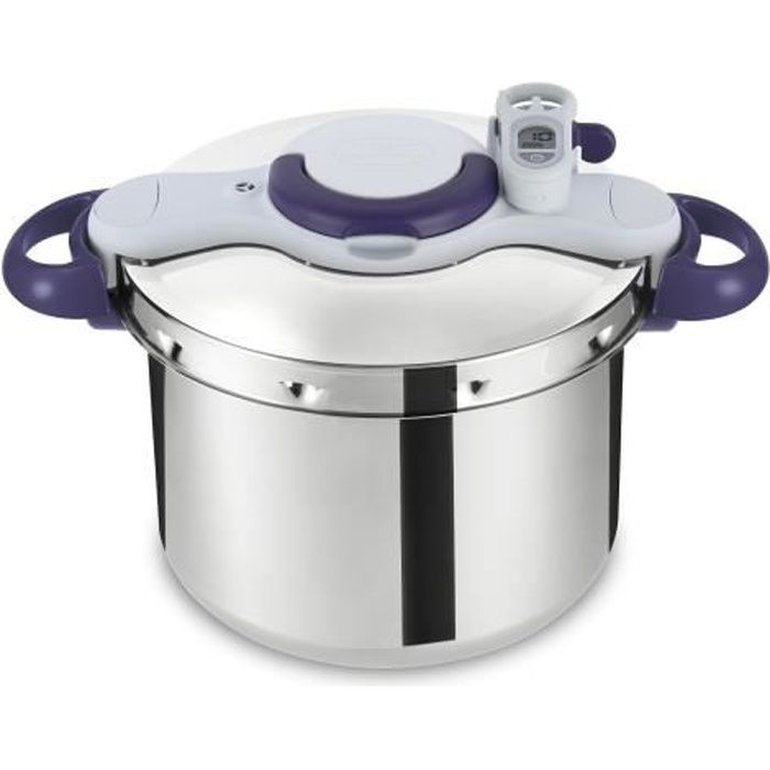 SEB P4624800 Autocuiseur Cocotte-minute CLIPSO MINUT PERFECT - 7,5L - Toux feux dont induction - Fabrication française - Inox