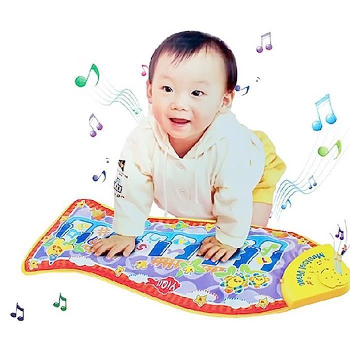 Vococal® Bébé jouet Touch Mat jeu enfant poisson forme Musical Chant Piano tapis jeu Mat jouet éducatif