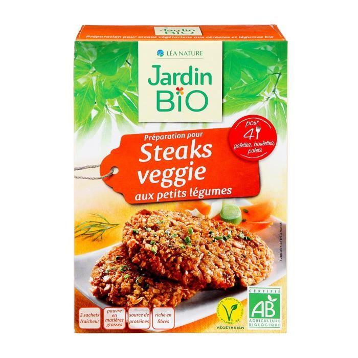 JARDIN BIO Préparation pour steaks veggie aux petits légumes bio - 200 g