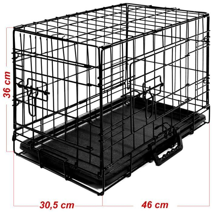 cage boite transport pour chien fermable pliable achat vente caisse de transport cage boite. Black Bedroom Furniture Sets. Home Design Ideas