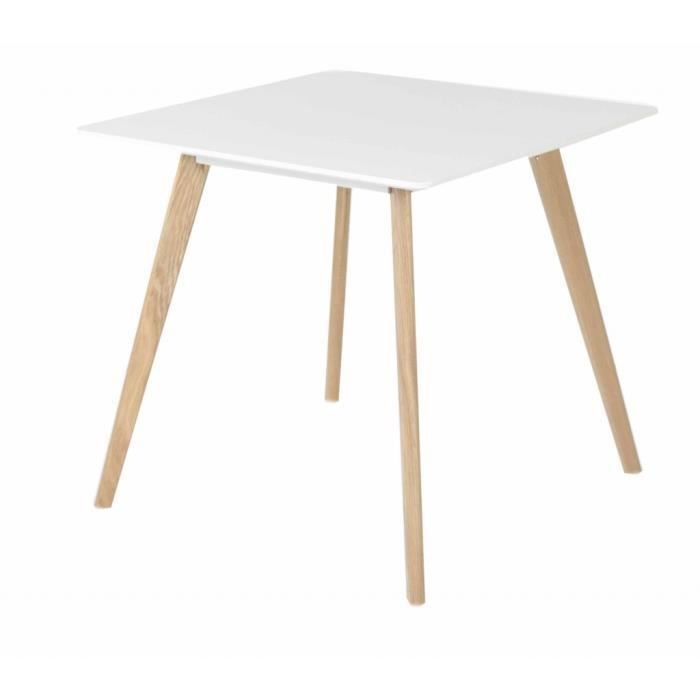 Table repas carr e blanche achat vente table a manger for Table a manger carree blanche