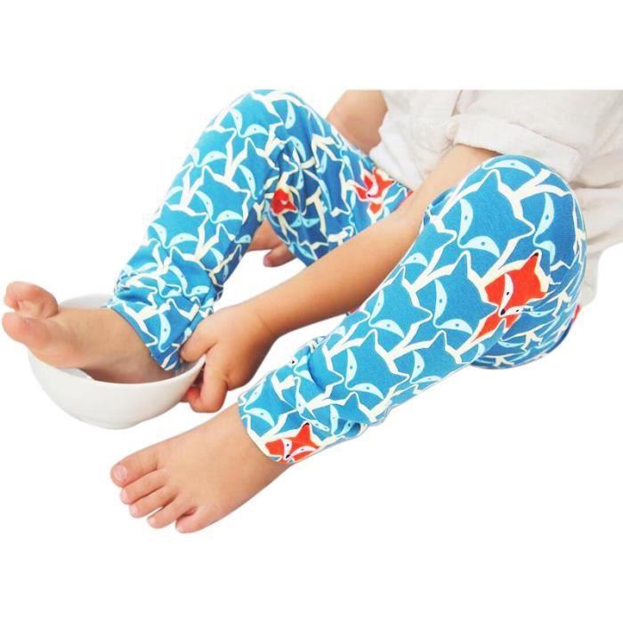 PANTALON  Pantalons Garçons Bébés Tenue Bleu Motif Renard I