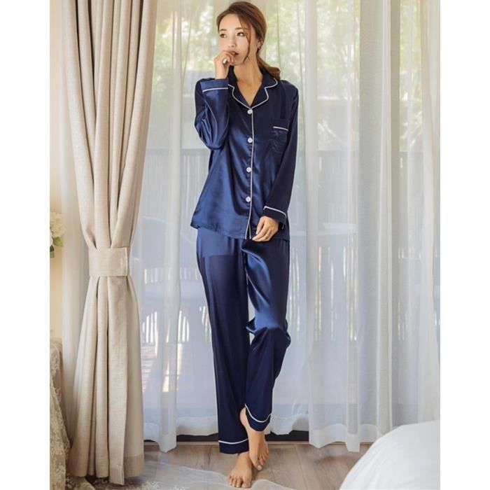 pyjama femme avec bouton achat vente pas cher. Black Bedroom Furniture Sets. Home Design Ideas