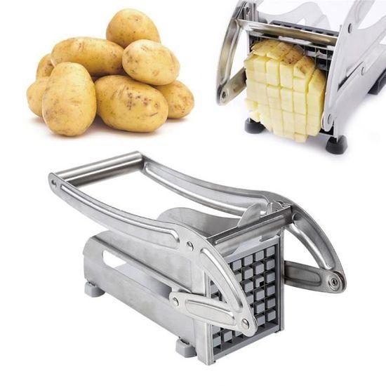 Coupe Frites Presse Patate Trancheuse Pomme De Terre Avec Ventouse 20 Coups