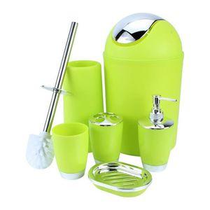 SET ACCESSOIRES 6pcs accessoires de salle de bain vert comprend di