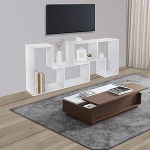 MEUBLE ÉTAGÈRE Blanc Meuble TV / Table basse / Bibliothèque - Mul