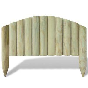 BORDURE  Lot de 10 bordures de jardin en bois 60 cm design