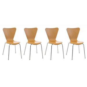 CHAISE DE BUREAU Lot de 4 chaises de séjour bureau en bois et métal