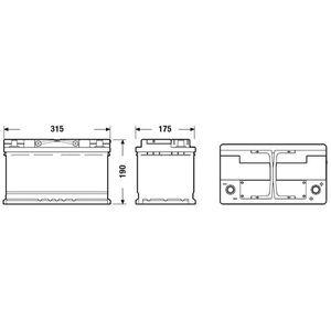 BATTERIE VÉHICULE FULMEN Batterie auto START-STOP AGM FK800 (+ droit
