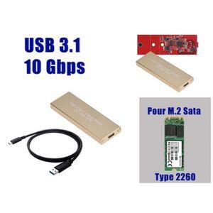 DISQUE DUR SSD Boitier Aluminium USB 3.1 Pour SSD M.2 (M2 NGFF) P