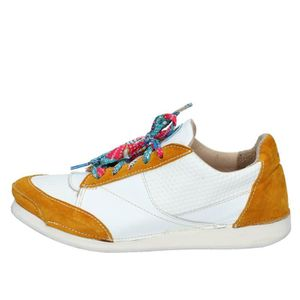 BASKET MOMA Chaussures Femme Baskets Cuir Blanc AB619