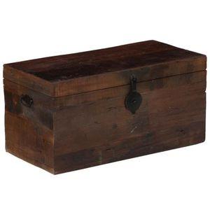 TABLE BASSE Coffre de rangement Boîte de rangement Bois de tra