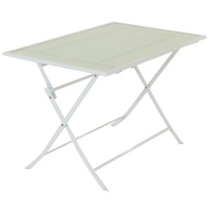 Table 110x70 blanc achat vente table 110x70 blanc pas for Table blanche pliable