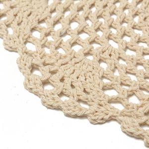 NAPPE DE TABLE TEMPSA Kit de 12Pcs Napperons Crochet Rond Blanc