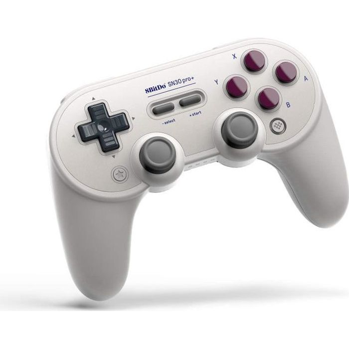 Manette Gamepad Bluetooth grise 8Bitdo SN30 Pro+ G Classic Edition pour Switch