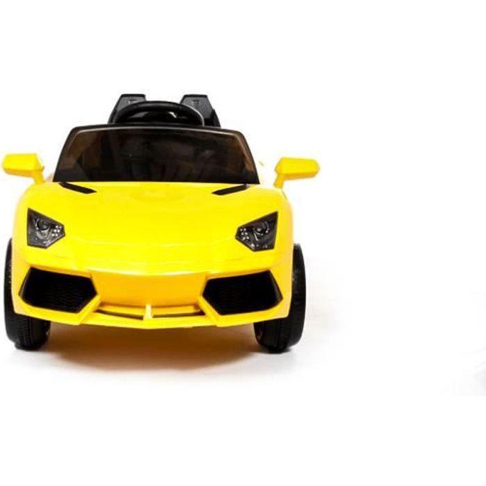 Lamborghini Style 12v voiture électrique pour enfants Jaune - Voiture électrique pour enfant avec batterie 12v et télécommande